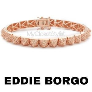 EDDIE BORGO Rose Gold Pave Crystals Bracelet NWT 7